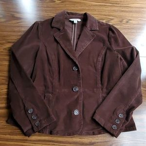 St. John's Bay Corduroy Suit Coat/Blazer Womens PL